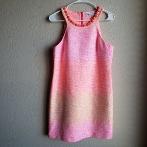Trina Turk Aptos 2 Dress Ombre Tweed Shift Sz 8